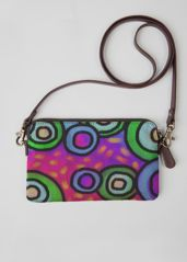Leather Statement Clutch - Circles Abstract Art by VIDA VIDA K8bWK7lE