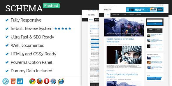 Schema – Ultra SEO Friendly WordPress Blog Responsive Theme