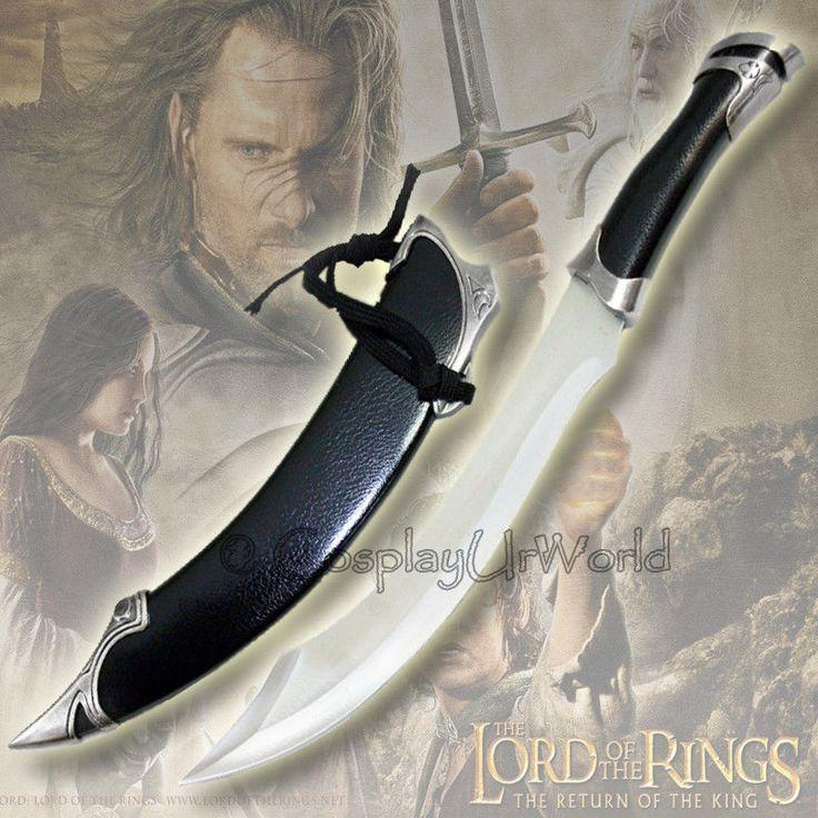 lotr strider   LOTR Lord of the Rings Elven Knife of Strider Aragorn Dagger Sword ...