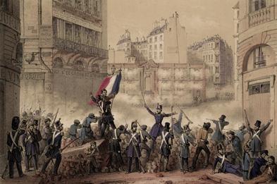 Revolución de 1848, París.