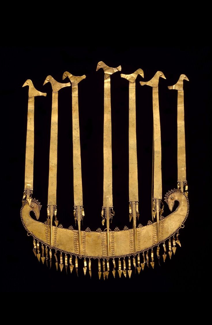 Indonesia ~ Lesser Sunda Islands ~ Flores | Crown; Hammered and repousse gold | Mid to late 18th century ||| {GPA}