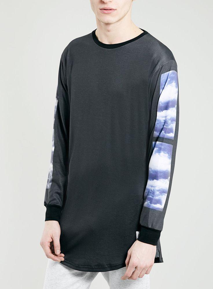THFKDLF Black Cloud Print Curve T-shirt* - Men's T-Shirts & Vests - Clothing - TOPMAN