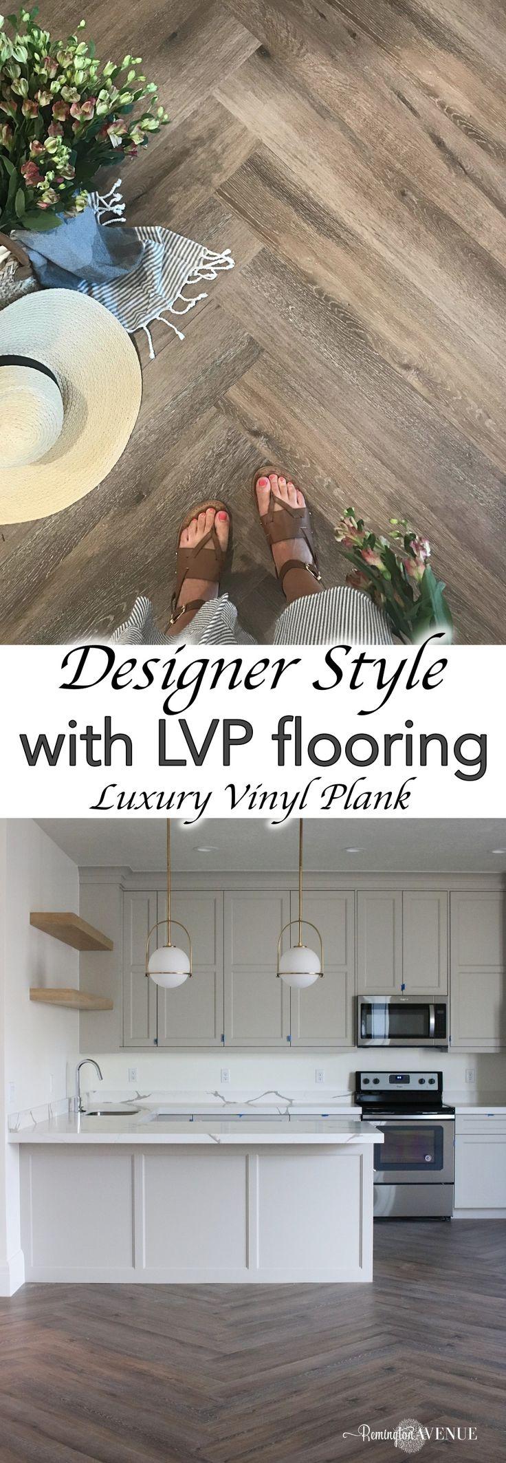 LVP Herringbone Floors & Basement Reveal (With images