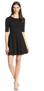 EIGHT SIXTY WOMEN'S PONTE PINTUCK FIT-AND-FLARE DRESS