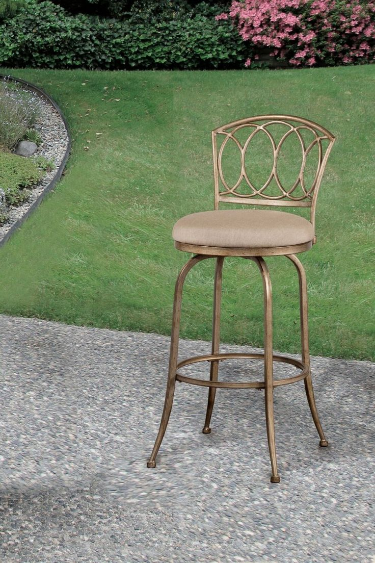 Hillsdale Corinna Indoor/Outdoor Champagne/Ash Swivel Bar Stool - 17 Best Images About Cast Aluminum And Metal Patio Furniture From