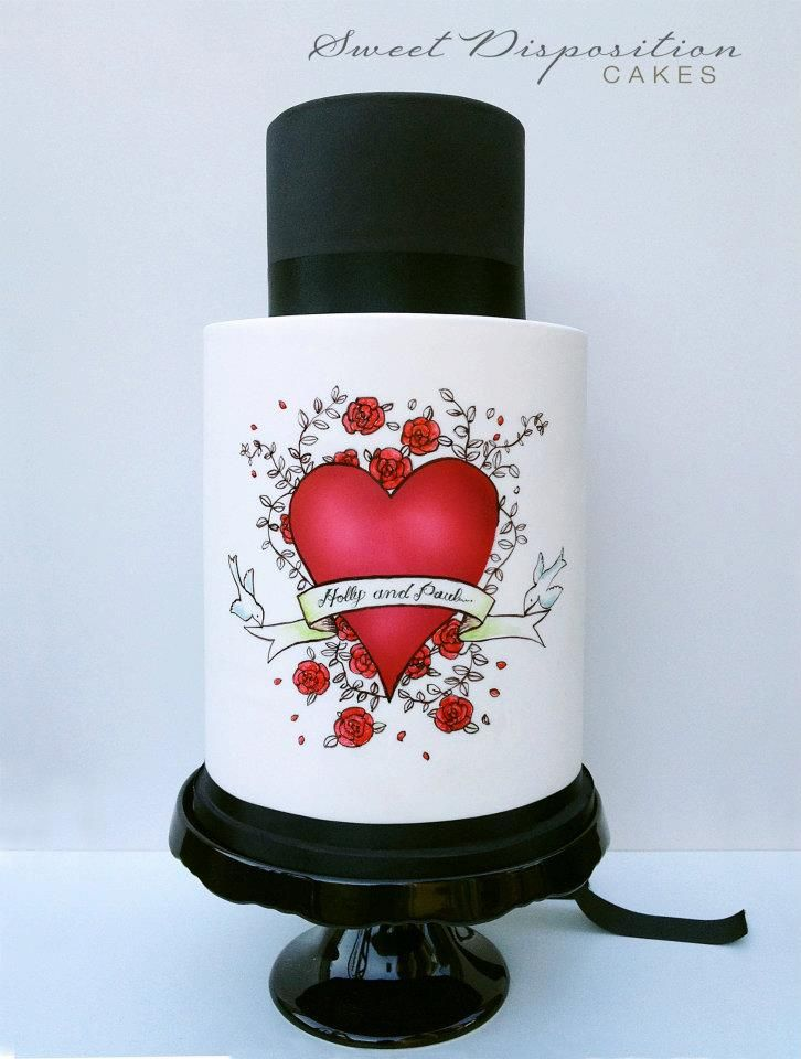 Hand painted Wedding Cake!  I gasped when I saw this one.   That always means good things.