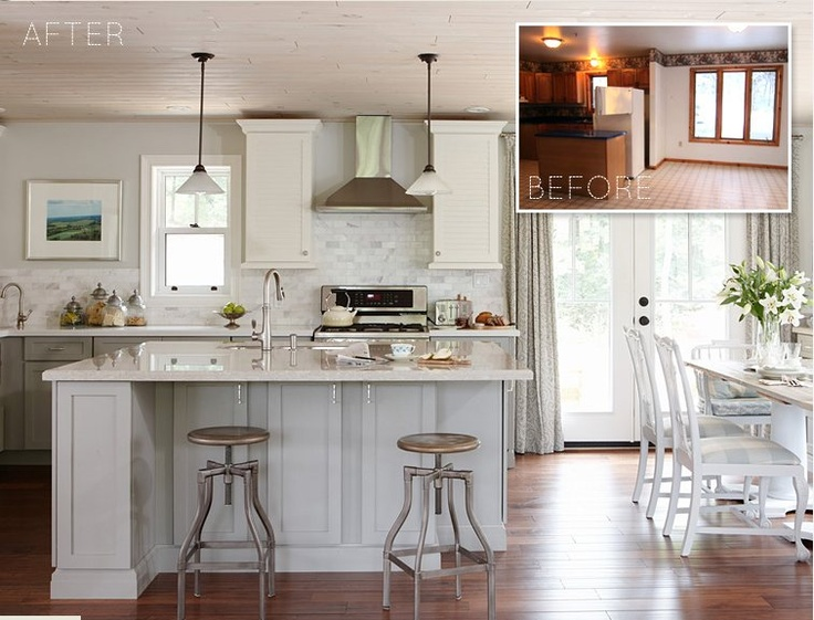 Sarah Richardson Kitchen Redesign Before And After Cupboards Counters Faucets From Lowes
