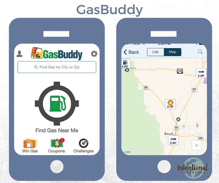 Gas Buddy - Great for budget road trips to find the cheapest gas nearby or wherever you're going next | Our Favorite Apps for Better Travel | Intentional Travelers