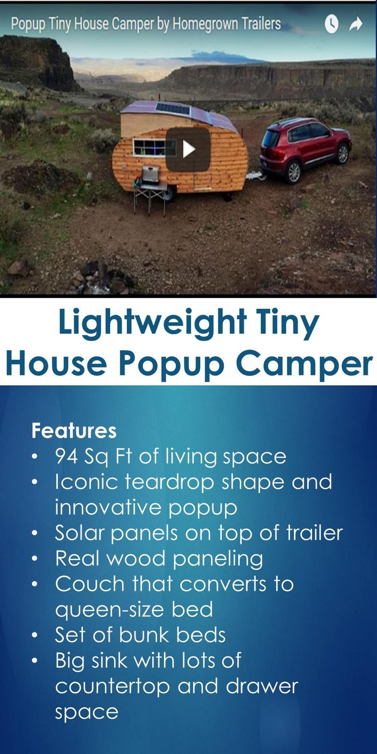 Lightweight Tiny House Popup Camper | Tiny Quality Homes