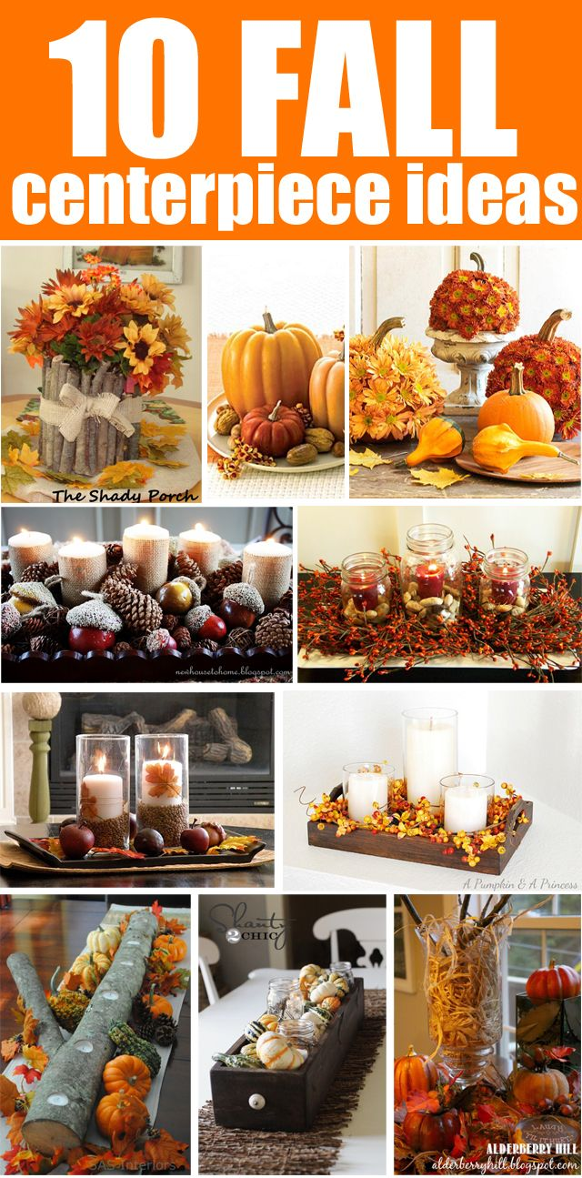 "Get Inspired: 10 Fall Centerpieces N.B.: Especially "" Fall hurricane centerpiece from House of Hepworths"""