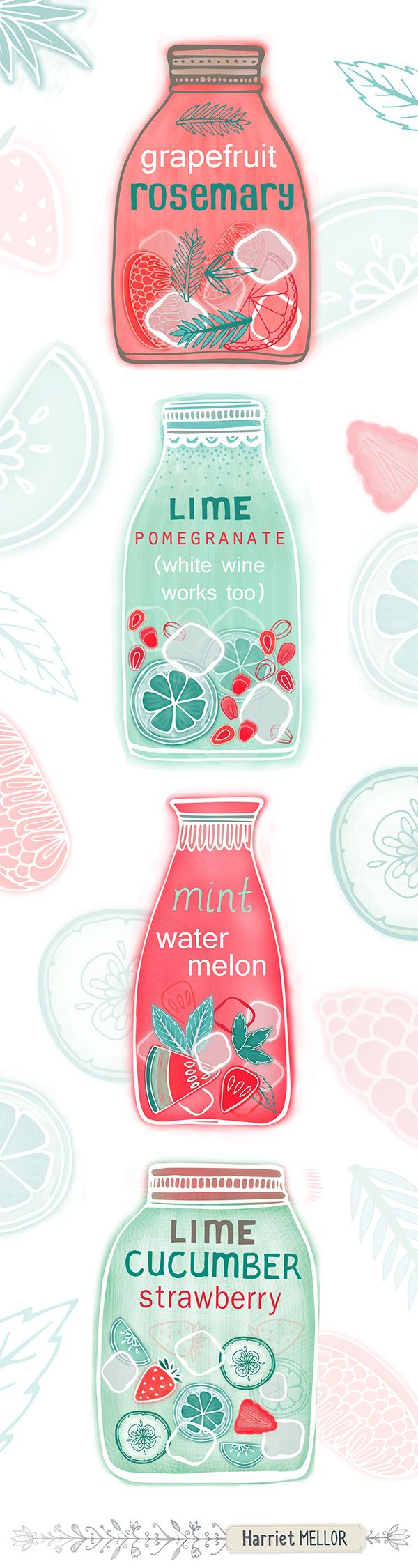 Harriet Mellor Infused waters tall pin