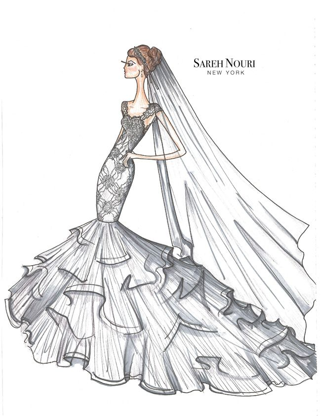 375 best Wedding Gown Sketches images on Pinterest | Fashion ...