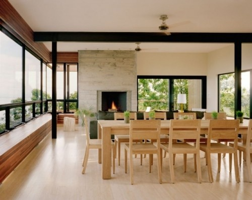 ONE FIREPLACE SERVES OUT DOORS AND IN HOUSE
