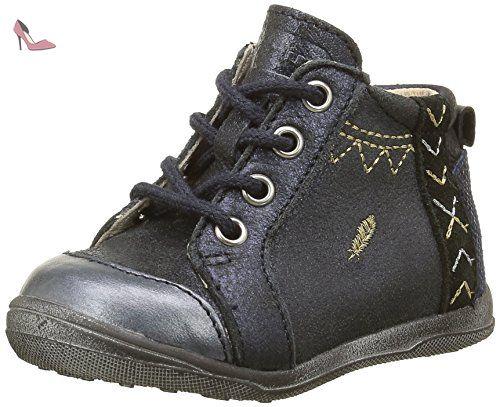 Catimini Mouette, Chaussures Premiers Pas Bébé Fille, Bleu (12 Vte Bleu/Or Dpf/Gluck), 22 EU - Chaussures catimini (*Partner-Link)