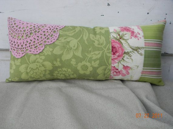 Green and Pink Decorative Pillow Pink, Green and Pillows