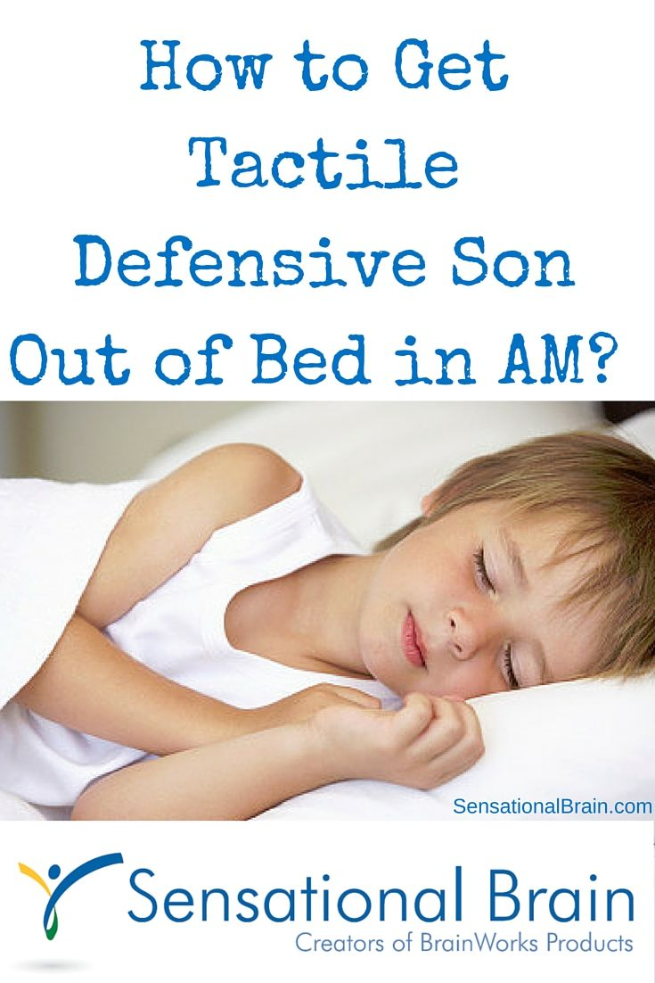 A mom struggles to get her #tactiledefensive son out of bed in the morning…