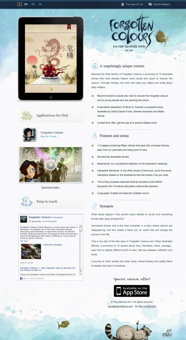 Forgotten Colours for iPad by Francesc Tovar, via Behance
