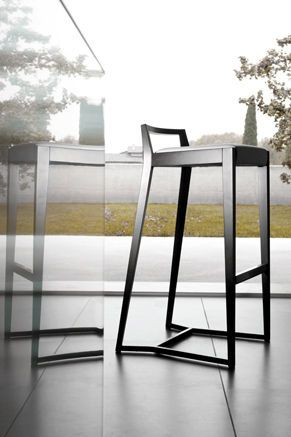 contemporary bar chair POURPARLER by Claudio Perin TEKHNE S.r.l.
