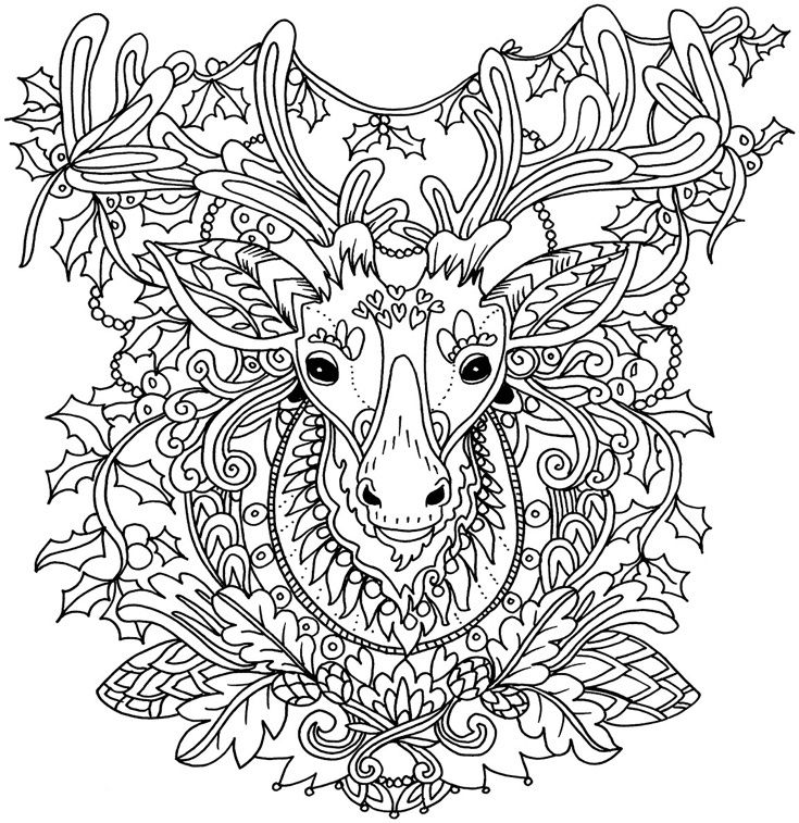 christmas wolf coloring pages | 170 best images about coloring wild animals on Pinterest ...