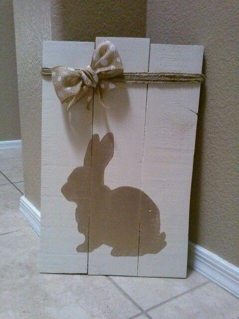 Easter pallet sign: