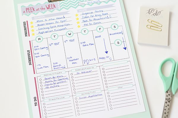 Weekly Planner for Teachers!
