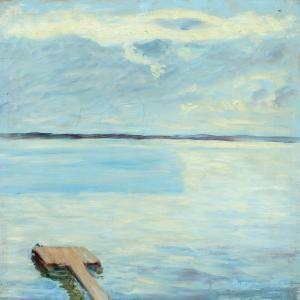 Hugo Simberg - Inlet With A Small Bridge At Niemenlautta, Wyborg, Karelia Nearthe Artist Estate