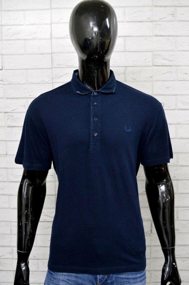 32d1d7e1f Polo FRED PERRY LIGHT AND STRETCH Uomo Taglia XXL Maglia Shirt Slim Fit Blu