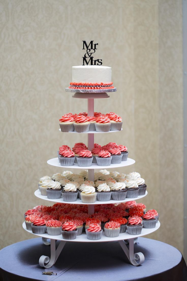 Cupcake Tier | Coral and Cream