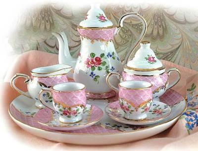 Victorian tea sets