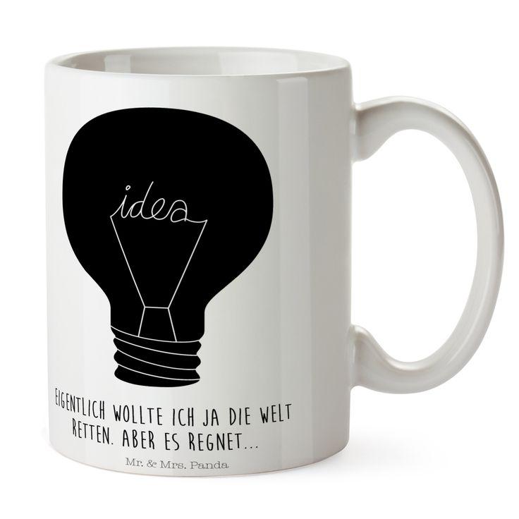 Tasse Glühbirne aus Keramik  Weiß - Das Original von Mr. & Mrs. Panda.  Eine wunderschöne spülmaschinenfeste Keramiktasse (bis zu 2000 Waschgänge!!!) aus dem Hause Mr. & Mrs. Panda, liebevoll verziert mit handentworfenen Sprüchen, Motiven und Zeichnungen. Unsere Tassen sind immer ein besonders liebevolles und einzigartiges Geschenk. Jede Tasse wird von Mrs. Panda entworfen und in liebevoller Arbeit in unserer Manufaktur in Norddeutschland gefertigt.     Über unser Motiv Glühbirne…