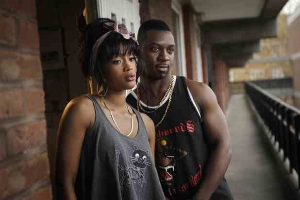 Tiana Benjamin as Tara Andrews and Richie Campbell as Daze