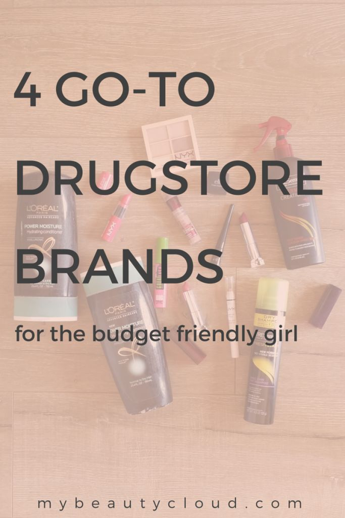 These are 4 go-to drugstore makeup brands for the budget friendly girl who still wants to look good.