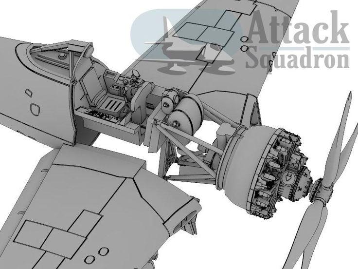 F8F interior details http://www.armahobbynews.com/2013/12/new-attack-squadron-model-kit-announced/