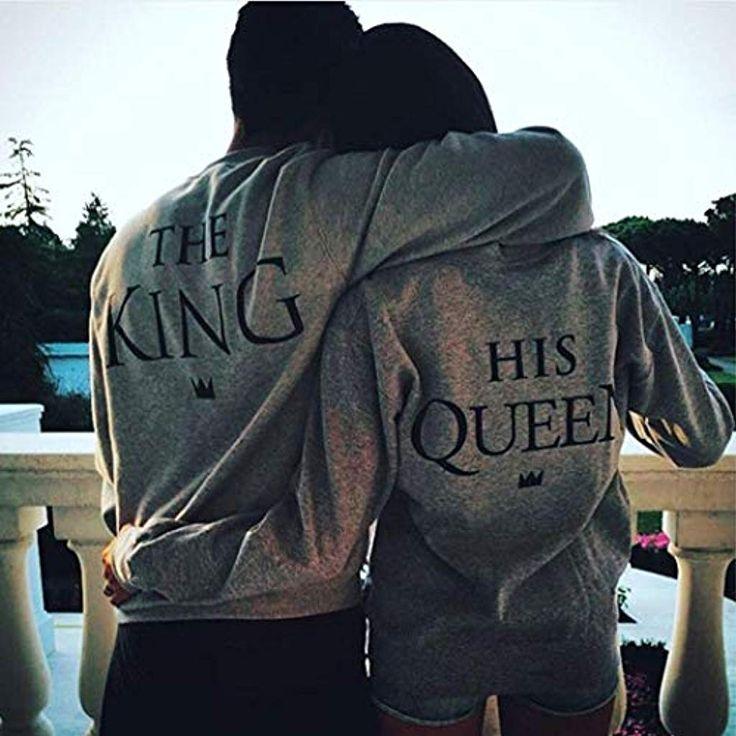 begorey Pullover Pärchen Casual Sweatshirts King und Queen für Damen und Herre…
