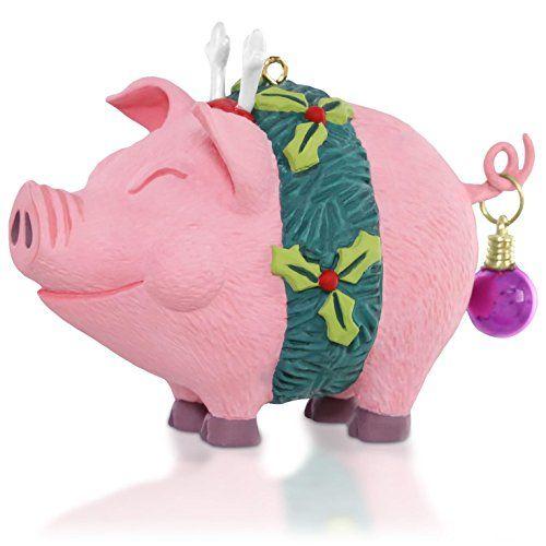 Deck the Hogs! Christmas Pig Ornament 2015 Hallmark - http://www.christmasshack.com/christmas-ornaments/deck-the-hogs-christmas-pig-ornament-2015-hallmark/