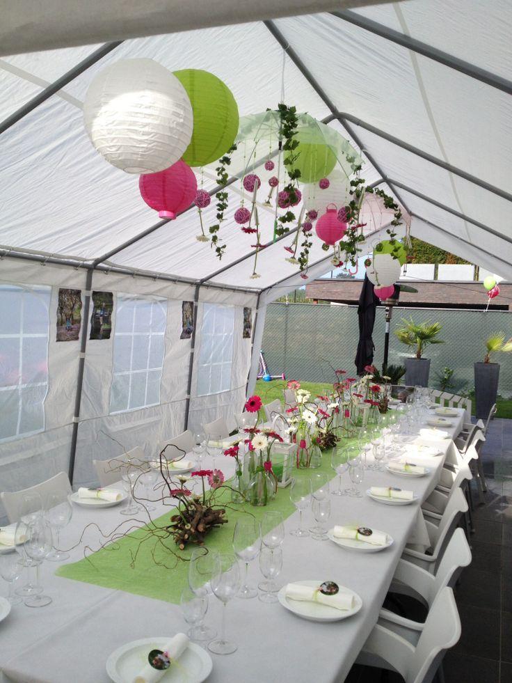 Afbeeldingsresultaat voor versieren feestzaal communie