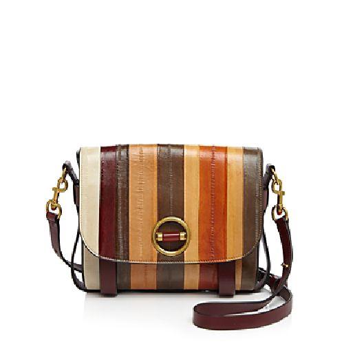 Tory Burch Alastair Runway Eel Stripe Shoulder Bag-Handbags