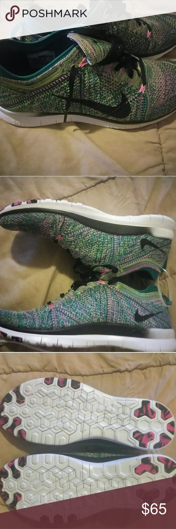 Nike Flyknit Free Run 5.0 Pink Green Glacier Racer Nike Flyknit Free run 5.0 TR Pink lagoon/ glacier Pink/ green women's Sz 9.5 brand new? Nike Shoes Athletic Shoes