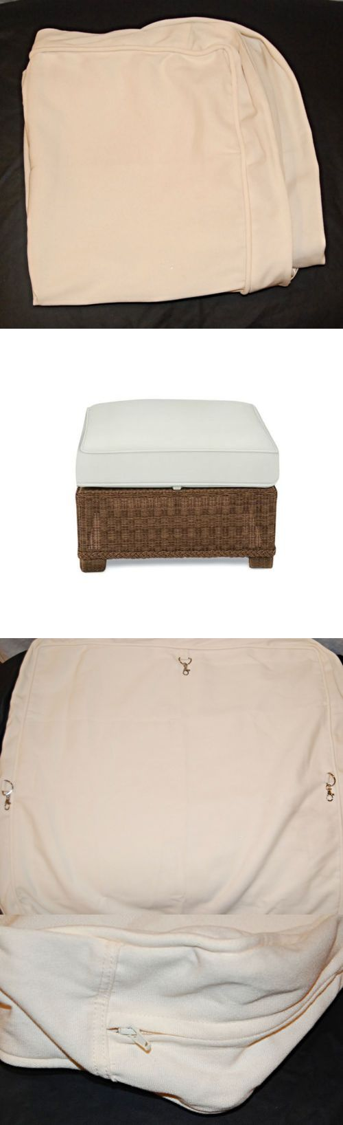 Outdoor Furniture Covers 177031: Pottery Barn Outdoor Palmetto Ottoman  Cushion Slipcover Natural 29 Square   Part 92