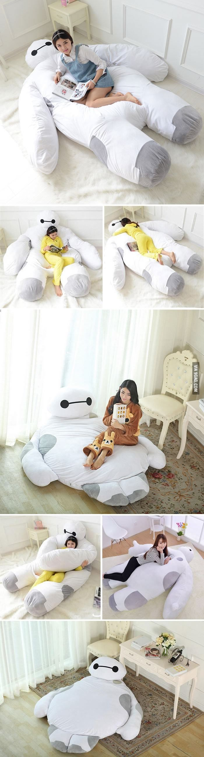 This Life Size Baymax Sofa Bed Is What I Need To Hug While I Sleep!