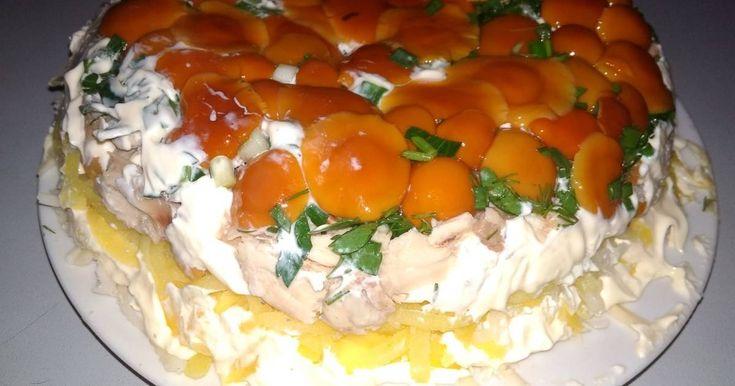 русское блюдо салат лесная быль рецепт с фото тефтели