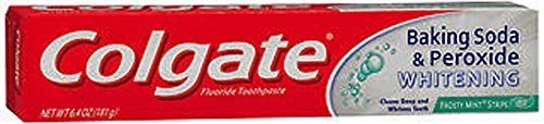 #Colgate® Frosty Mint® Stripe Gel Baking Soda & Peroxide Whitening Toothpaste. Anticavity fluoride toothpaste. Cleans deep and whitens teeth.