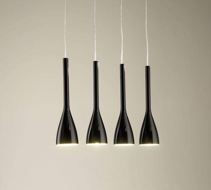 Set 4 Lampade Da Soffitto Nere | Duzzle