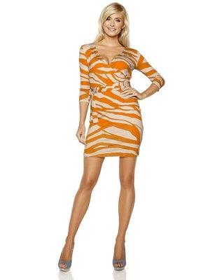 #HeineShoppingliste Shirtkleid in Wickeloptik in orange