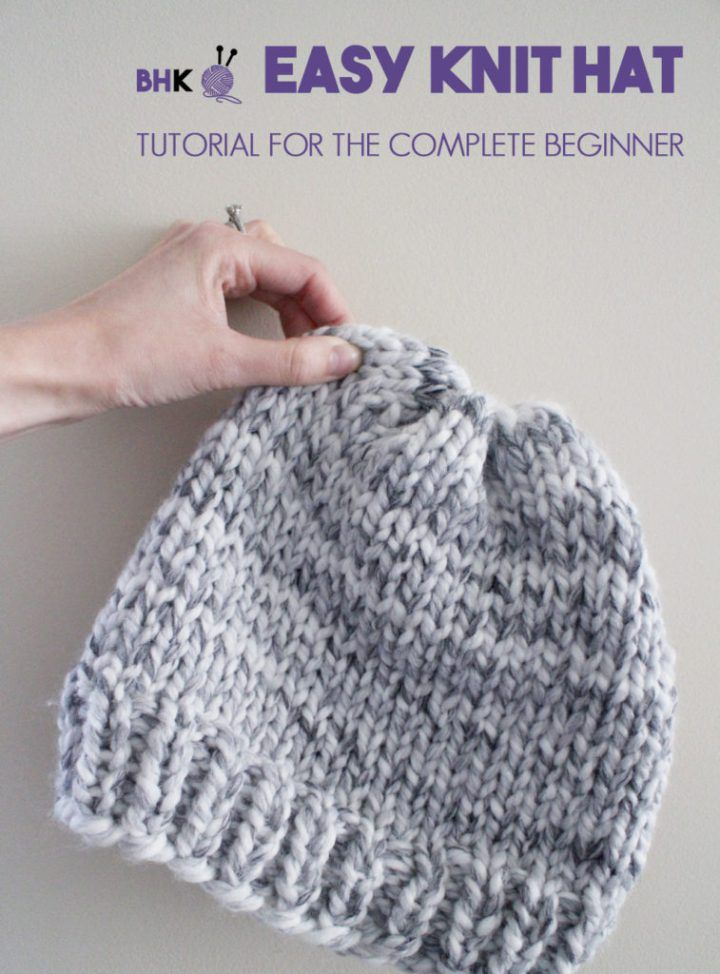 Easy Knit Hat B Hooked Knitting Patterns Knitting Easy Knit Hat