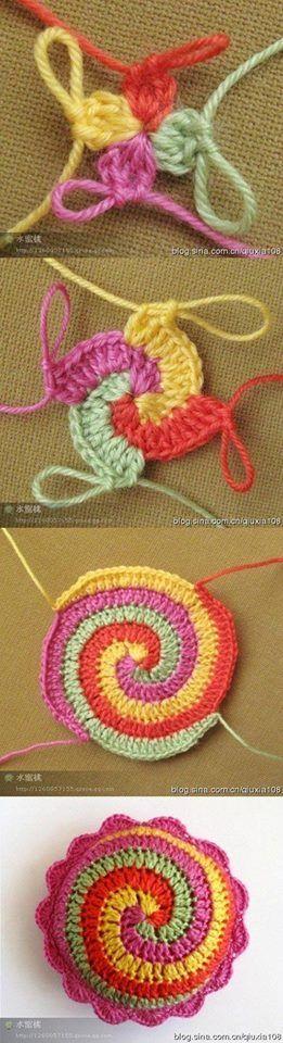 4 цвета по спирали