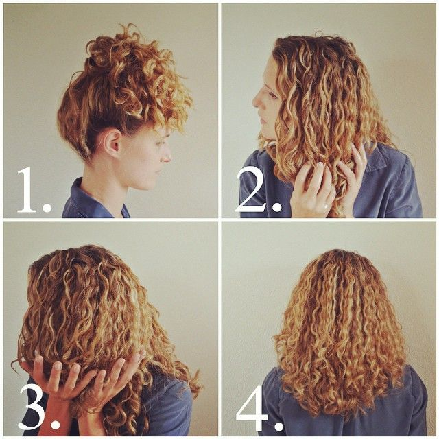 how to get perfect second day curls - today on the blog www.justcurly.com!  1. achieving great second day curls begins before you go to bed: put your curls up in a really! high ponytail  2. the next morning, mix some conditioner with water and put it topdown on your hair without separating your curls  3. scrunch your curls to bring them back to life  4. that's it, you're done! go ahead and enjoy beautiful second day curls