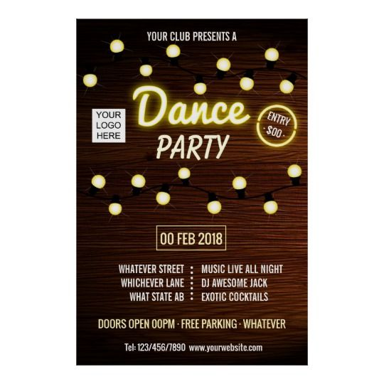 Club Deejay Dance Music Party add logo Poster