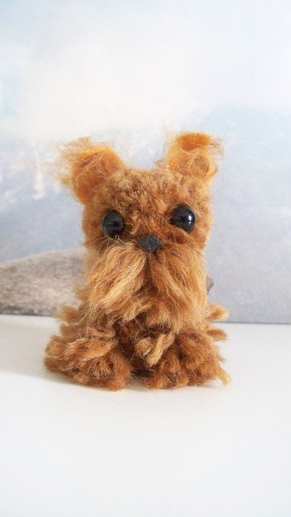 Brussels Griffon Yarn Pom-Pom Puppy by YuriandYanvar on Etsy