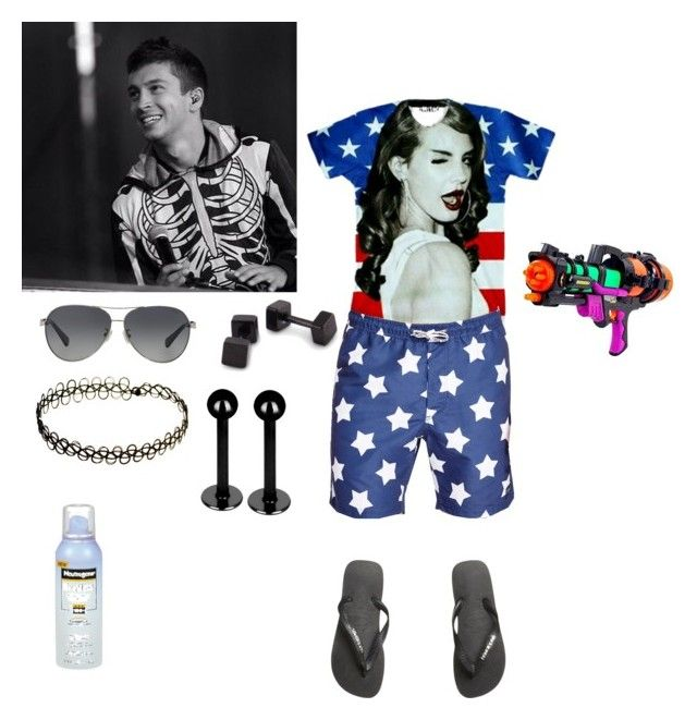 """""""Philip Hamilton 4th of July"""" by lilycobain2002 ❤ liked on Polyvore featuring Barney Cools, Havaianas, Coach, INDIE HAIR, Neutrogena, men's fashion and menswear"""